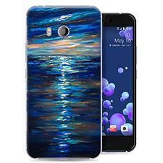 HTC U11用ハードケース プラスチック 海洋 HTC ネイビー