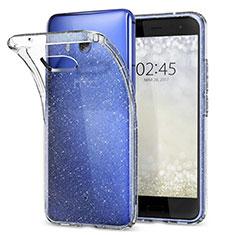 HTC U11用極薄ソフトケース シリコンケース 耐衝撃 全面保護 クリア透明 T04 HTC クリア