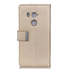 HTC U11 Eyes用手帳型 レザーケース スタンド カバー L02 HTC ゴールド