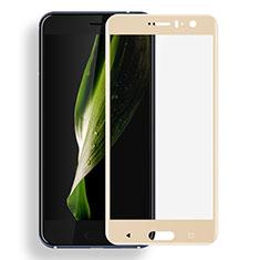 HTC U11用強化ガラス フル液晶保護フィルム F03 HTC ゴールド