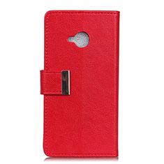 HTC U11 Life用手帳型 レザーケース スタンド カバー L02 HTC レッド