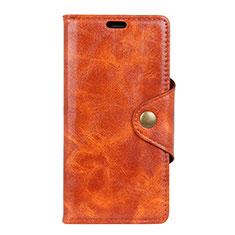 HTC U12 Life用手帳型 レザーケース スタンド カバー L03 HTC オレンジ