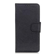 HTC U19E用手帳型 レザーケース スタンド カバー HTC ブラック