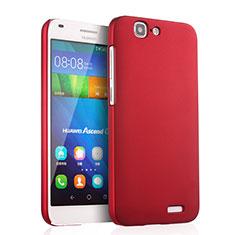 Huawei Ascend G7用ハードケース プラスチック 質感もマット ファーウェイ レッド