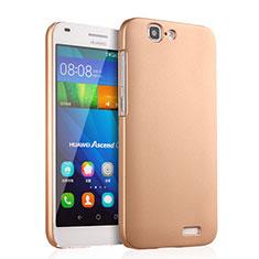 Huawei Ascend G7用ハードケース プラスチック 質感もマット ファーウェイ ゴールド