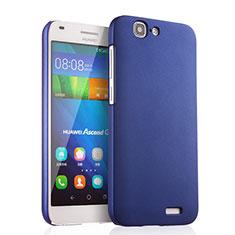 Huawei Ascend G7用ハードケース プラスチック 質感もマット ファーウェイ ネイビー