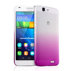 Huawei Ascend G7用ハードケース グラデーション 勾配色 クリア透明 ファーウェイ ピンク