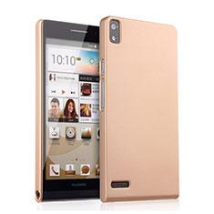 Huawei Ascend P6用ハードケース プラスチック 質感もマット ファーウェイ ゴールド