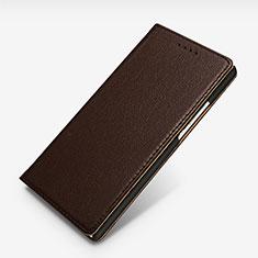 Huawei Ascend P7用手帳型 レザーケース スタンド L02 ファーウェイ ブラウン
