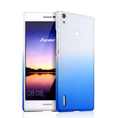 Huawei Ascend P7用ハードケース グラデーション 勾配色 クリア透明 ファーウェイ ネイビー