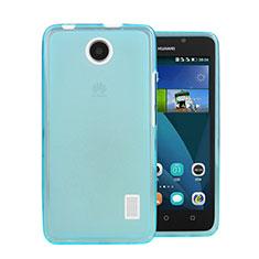 Huawei Ascend Y635 Dual SIM用極薄ソフトケース シリコンケース 耐衝撃 全面保護 クリア透明 ファーウェイ ネイビー