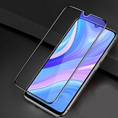 Huawei Enjoy 10S用強化ガラス フル液晶保護フィルム アンチグレア ブルーライト ファーウェイ ブラック
