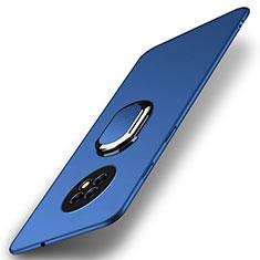 Huawei Enjoy 20 Plus 5G用ハードケース プラスチック 質感もマット アンド指輪 マグネット式 A01 ファーウェイ ネイビー