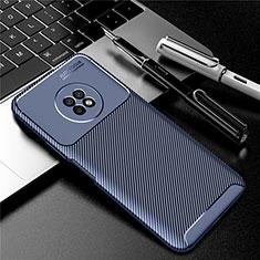 Huawei Enjoy 20 Plus 5G用シリコンケース ソフトタッチラバー ツイル カバー ファーウェイ ネイビー