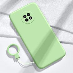 Huawei Enjoy 20 Plus 5G用360度 フルカバー極薄ソフトケース シリコンケース 耐衝撃 全面保護 バンパー ファーウェイ グリーン