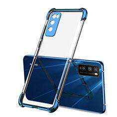 Huawei Enjoy 20 Pro 5G用極薄ソフトケース シリコンケース 耐衝撃 全面保護 クリア透明 H01 ファーウェイ ネイビー