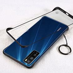 Huawei Enjoy 20 Pro 5G用ハードカバー クリスタル クリア透明 H01 ファーウェイ ブラック