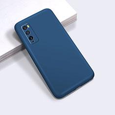 Huawei Enjoy 20 Pro 5G用360度 フルカバー極薄ソフトケース シリコンケース 耐衝撃 全面保護 バンパー ファーウェイ ネイビー