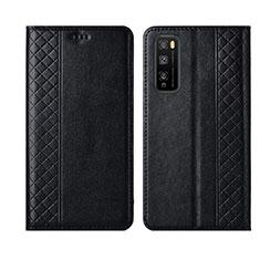 Huawei Enjoy 20 Pro 5G用手帳型 レザーケース スタンド カバー L02 ファーウェイ ブラック