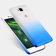 Huawei Enjoy 5用ハードケース グラデーション 勾配色 クリア透明 ファーウェイ ネイビー