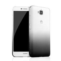 Huawei Enjoy 5用ハードケース グラデーション 勾配色 クリア透明 ファーウェイ ブラック
