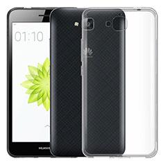 Huawei Enjoy 5用極薄ソフトケース シリコンケース 耐衝撃 全面保護 クリア透明 カバー ファーウェイ クリア