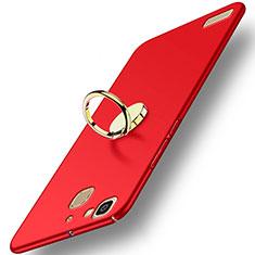Huawei Enjoy 5S用ハードケース プラスチック 質感もマット アンド指輪 A02 ファーウェイ レッド