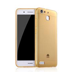 Huawei Enjoy 5S用極薄ソフトケース シリコンケース 耐衝撃 全面保護 クリア透明 ファーウェイ ゴールド