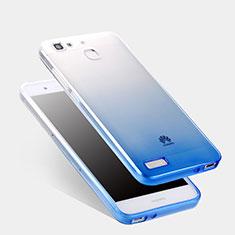 Huawei Enjoy 5S用極薄ソフトケース グラデーション 勾配色 クリア透明 ファーウェイ ネイビー