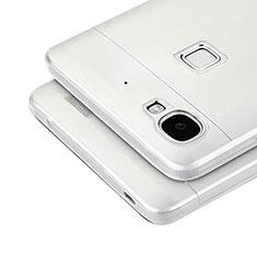 Huawei Enjoy 5S用極薄ソフトケース シリコンケース 耐衝撃 全面保護 クリア透明 T04 ファーウェイ グレー