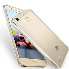 Huawei Enjoy 5S用極薄ソフトケース シリコンケース 耐衝撃 全面保護 クリア透明 T05 ファーウェイ グレー