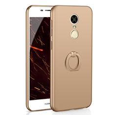 Huawei Enjoy 6用ハードケース プラスチック 質感もマット アンド指輪 A01 ファーウェイ ゴールド