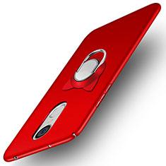 Huawei Enjoy 6用ハードケース プラスチック 質感もマット アンド指輪 A02 ファーウェイ レッド