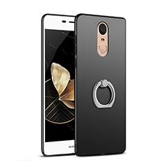 Huawei Enjoy 6用ハードケース プラスチック 質感もマット アンド指輪 Q02 ファーウェイ ブラック