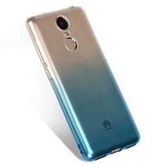 Huawei Enjoy 6用極薄ソフトケース グラデーション 勾配色 クリア透明 Q01 ファーウェイ ネイビー