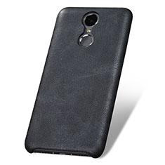 Huawei Enjoy 6用ケース 高級感 手触り良いレザー柄 ファーウェイ ブラック