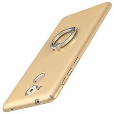 Huawei Enjoy 6S用ハードケース プラスチック 質感もマット アンド指輪 A01 ファーウェイ ゴールド
