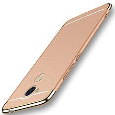 Huawei Enjoy 6S用ケース 高級感 手触り良い メタル兼プラスチック バンパー M01 ファーウェイ ゴールド