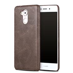 Huawei Enjoy 6S用ケース 高級感 手触り良いレザー柄 ファーウェイ ブラウン