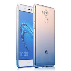 Huawei Enjoy 6S用極薄ソフトケース グラデーション 勾配色 クリア透明 ファーウェイ ネイビー