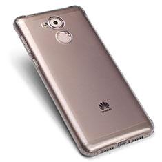 Huawei Enjoy 6S用極薄ソフトケース シリコンケース 耐衝撃 全面保護 クリア透明 ファーウェイ グレー