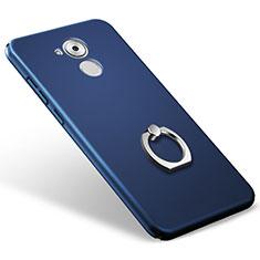 Huawei Enjoy 6S用ハードケース プラスチック 質感もマット アンド指輪 ファーウェイ ネイビー