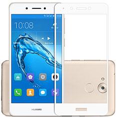 Huawei Enjoy 6S用強化ガラス フル液晶保護フィルム F02 ファーウェイ ホワイト