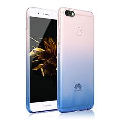 Huawei Enjoy 7用極薄ソフトケース グラデーション 勾配色 クリア透明 カバー ファーウェイ ネイビー