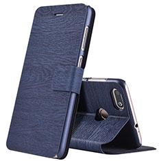 Huawei Enjoy 7用手帳型 レザーケース スタンド ファーウェイ ネイビー