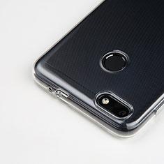 Huawei Enjoy 7用極薄ソフトケース シリコンケース 耐衝撃 全面保護 クリア透明 T03 ファーウェイ クリア