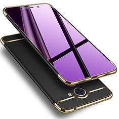 Huawei Enjoy 7 Plus用ケース 高級感 手触り良い アルミメタル 製の金属製 ファーウェイ ブラック