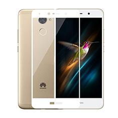 Huawei Enjoy 7 Plus用強化ガラス フル液晶保護フィルム ファーウェイ ホワイト
