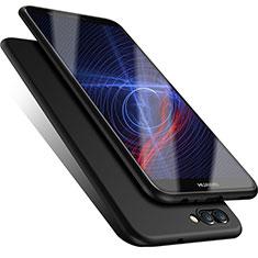 Huawei Enjoy 7S用極薄ソフトケース シリコンケース 耐衝撃 全面保護 ファーウェイ ブラック