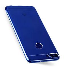 Huawei Enjoy 7S用極薄ソフトケース シリコンケース 耐衝撃 全面保護 クリア透明 T07 ファーウェイ クリア